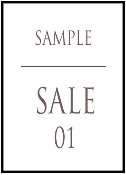 SAMPLE SALE 01