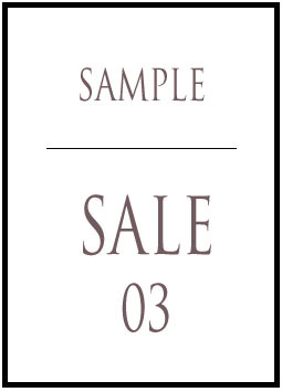 SAMPLE SALE 03